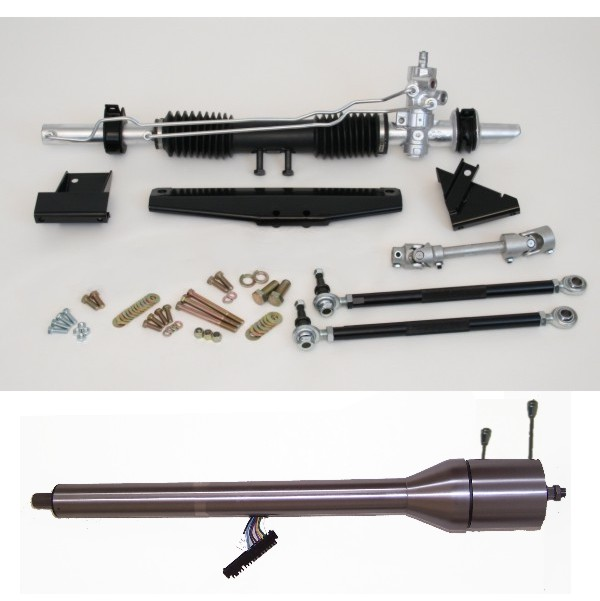 1964-1970 Mustang Steeroids Rack & Pinion Conversion Kit with Column, Manual Steering