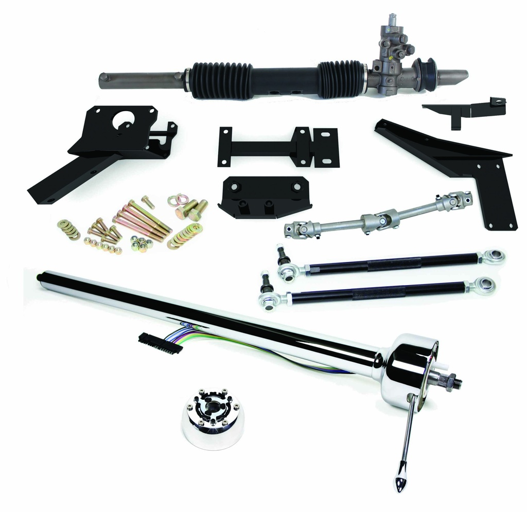 1953-1962 Corvette Steeroids Rack & Pinion Conversion Kit with Column, Manual Steering