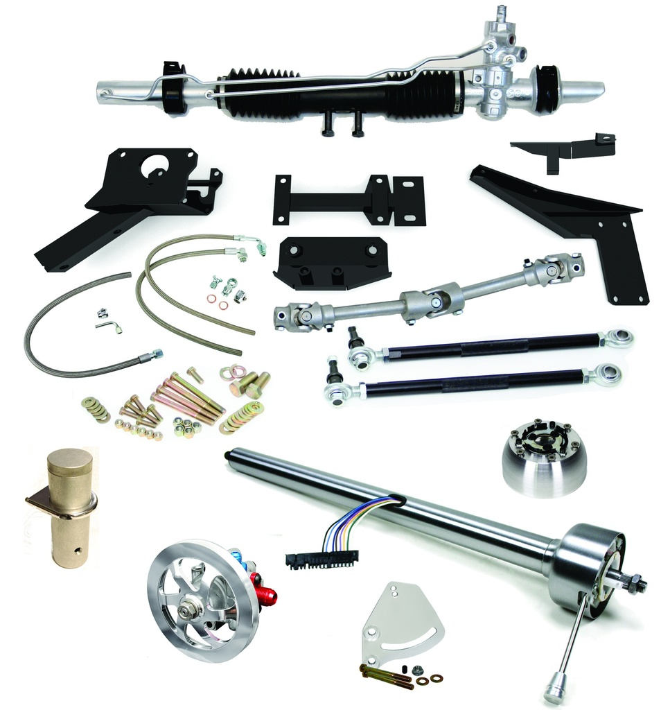 1953-1962 Corvette Steeroids Rack & Pinion Conversion Kit with Column, Power Steering
