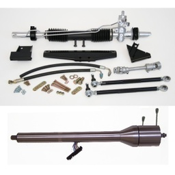 1964-1970 Mustang Steeroids Rack & Pinion Conversion Kit with Column, Power Steering